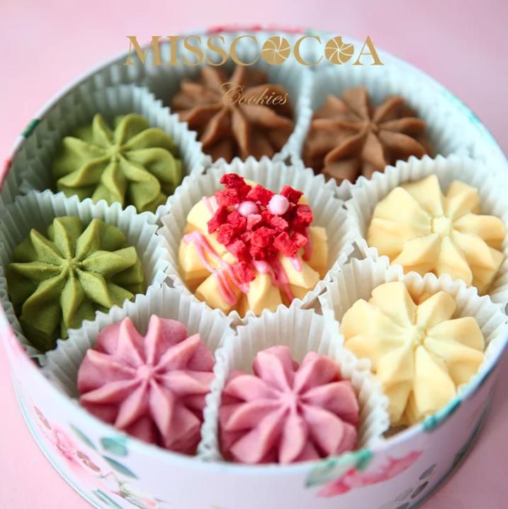 【MISSCOCOA 蜜司可可】小花曲奇餅乾「 錦上添花」綜合裝