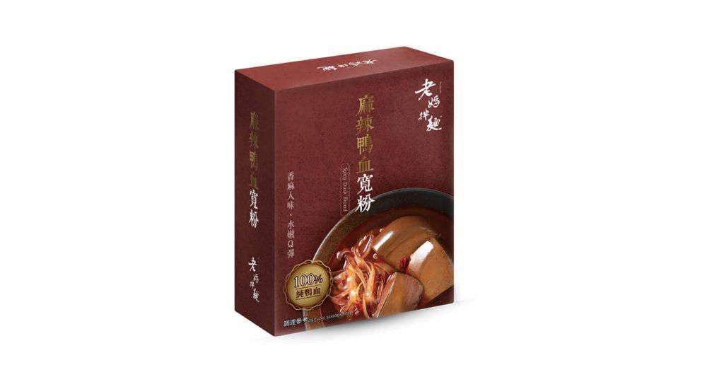 【台灣即食麵】老媽拌麵 - 麻辣鴨血寬粉